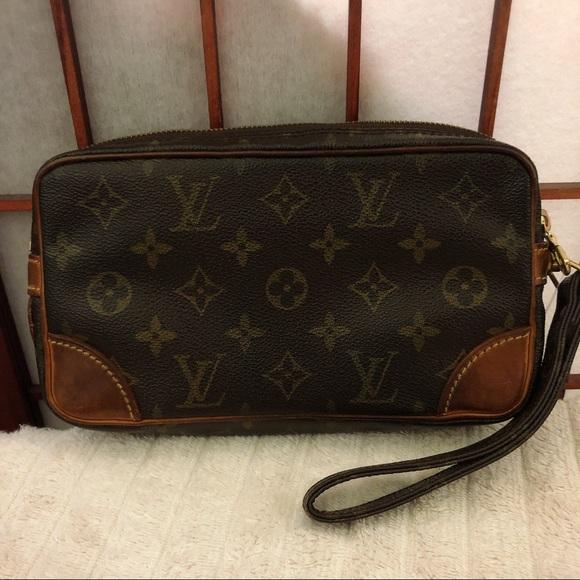 b3163d4e9 Louis Vuitton Handbags - Louis Vuitton marly Dragonne monogram wristlet bag